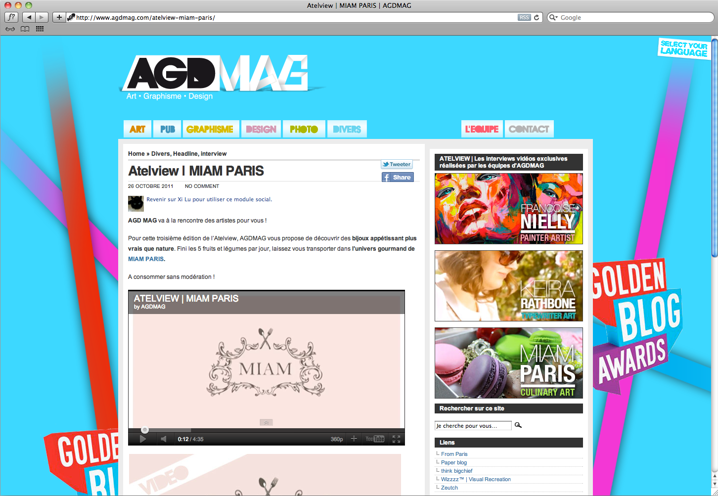 interview de MIAM sur AGDmag