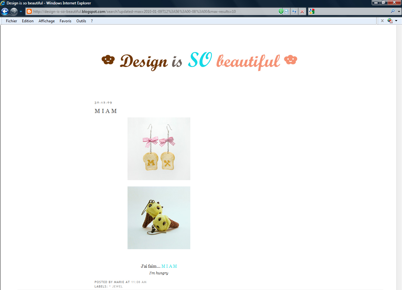 "MIAM sur ""design is so beautiful"""